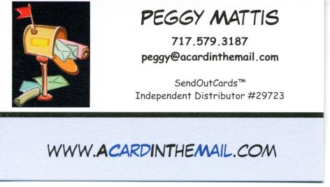 Peggy Mattis, Queen of Cards, A Card In The Mail