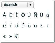 Spanish characters