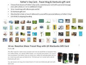 Father's Day card and 16 oz mug gift set